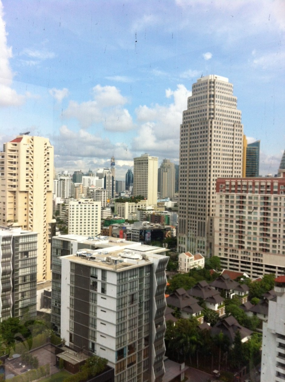 The view from our hotel room. Look closer - the high rises just goes on and on and on and on.....