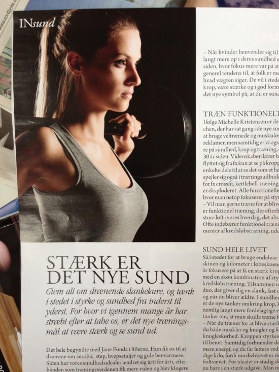 'Stærk er det nye sund' - yeah right. Jeg vil se tyndfede piger og kvinder tage dèn alvorligt, før jeg tror det.