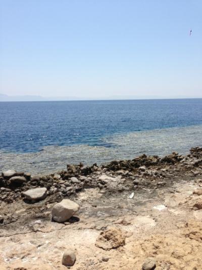 Helt typisk kystsnit - 3 meter lavt vand og så koralrev og dybt