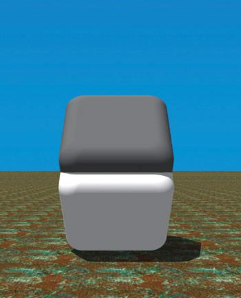 Læg et par fingre hen over 'knækket', top og bund er samme farve...