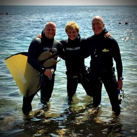 Overskudsbilledet efter 2 dybe dyk :-)