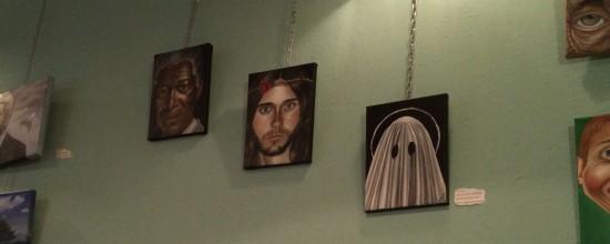 Kunst på væggen: Trinity: cool black father, stereotyp wasp guy + ghost :-)