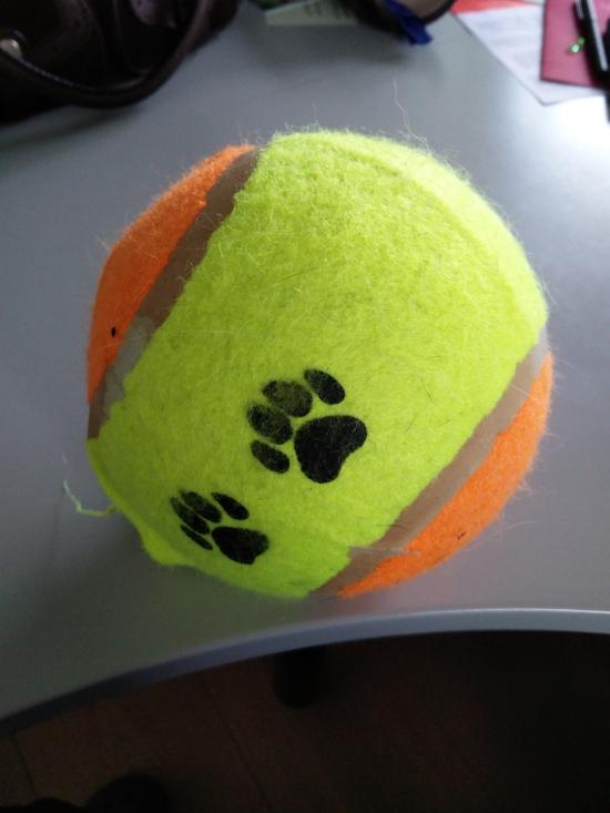 Ny bold, tung, hård, bidesikker - 80 kroner.