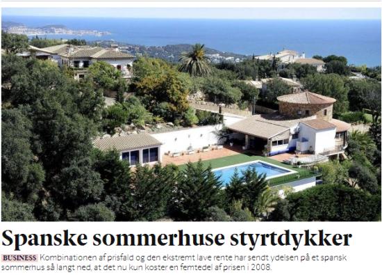 2008 - 2013: Forskellen for et spansk sommerhus er en faktor 5!