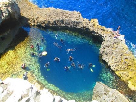 Malta, Gozo: Blue Hole